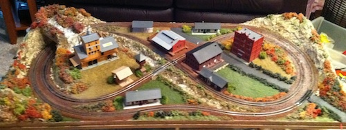 Small N Scale Model Train Layout