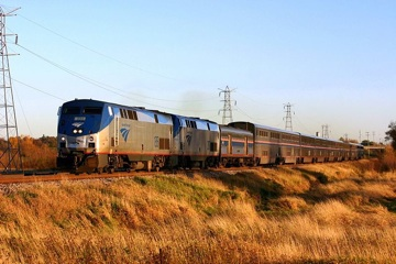 Amtrak passenger train