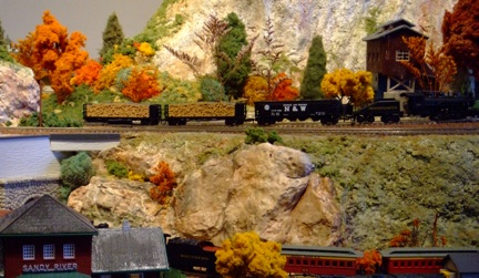 Model train layout photo