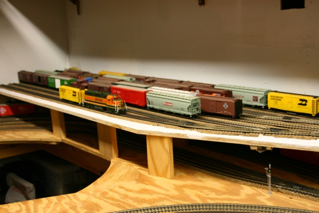 Staging train yard