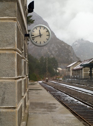 Railroad station clock