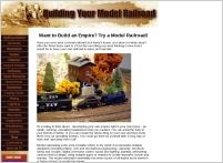 Building Your Model Railroad website screenshot