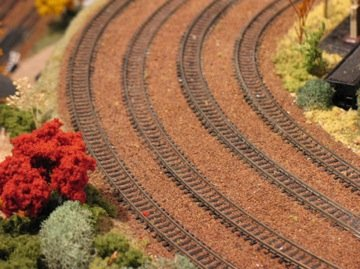 Model railroad track ballast