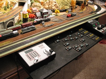 Control panel for train layout