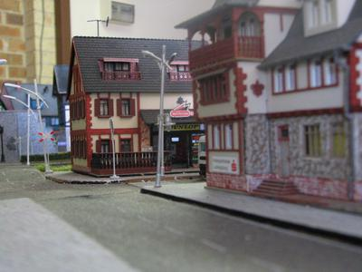 The town street