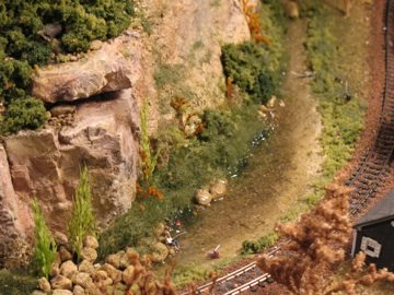 Model railroad pond