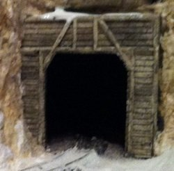 Painted model railroad tunnel